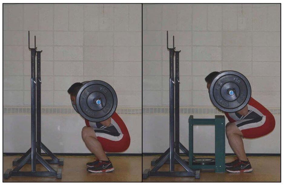 Restricted vs. unrestricted squats in Chiu's study.